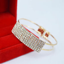 Crystal Bracelets Cuff Women Jewelry Bangle Present Rhinestone Hot Sale r