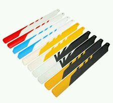 Trex 450 325mm glass fibre main rotor blades in various colours