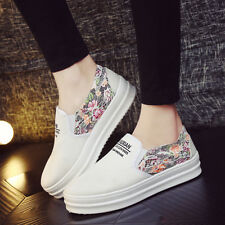 New Women's Sport loafer Canvas Comfort Flats Slip On Sneakers Casual Shoes PL41