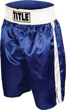 Title  Boxing Professional Boxing Trunks - Blue / White