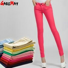 PANTS PENCIL TROUSERS STRETCH WOMEN SLIM CASUAL SKINNY JEANS SEXY FASHION S M L