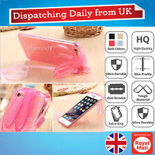 TPU Soft Silicone Rabbit Ears Clear Gel Back Case Cover For Apple Iphone 6 6s 6+