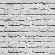 """High Quality Graylish White Brick Wallpaper Painted Effect wall deco20.8""""x393.7"""""""