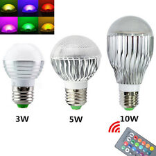 AC85-265V 10W E27 Color LED RGB Magic Light Dimmable Bulb lamp + Wireless Remote