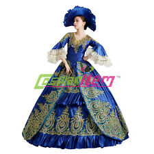 Medieval Renaissance Ball Gown Wedding Dress Royal Court Stage Costume
