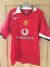 MANCHESTER UNITED HOME SHIRT 2004-2006 ROONEY SIZE L