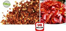 Grown Organically Crushed Red Chilli Flakes/Chili Chopped Regular Hot, 8oz- 5lbs