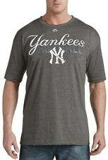 New York Yankees MLB Mens Majestic Last Rally Shirt Charcoal Big & Tall Sizes