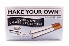 100 King Size Cigarette Filter Tubes Make your Own Tips 500 Tubes 1000 Tubes