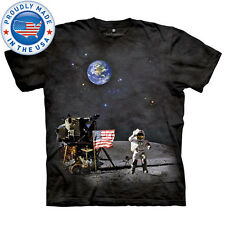 The Mountain MOON LANDING Astronaut USA NASA Space Walk T-Shirt S-3XL NEW