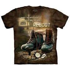 The Mountain REBOOT OUTDOOR Funny Hiking Inspirational Hike T-Shirt S-3XL NEW