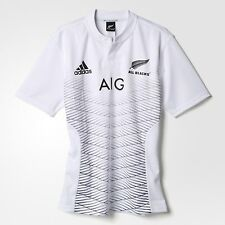 All Blacks Rugby Jersey New Zealand Shirt Adidas Mens New 2015/2016 Away Rare
