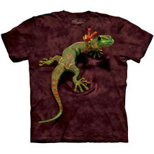 PEACE OUT GECKO The Mountain Funny Hippie Lizard Peace Sign T-Shirt S-3XL NEW