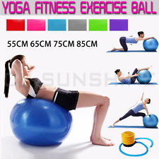 YOGA SWISS BALL HOME GYM EXERCISE BALANCE PILATES EQUIPMENT FITNESS 55 TO 85cm