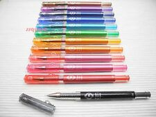 3 x Pilot Hi-Tec-C Maica 0.4mm Ultra Fine Rollerball Gel Ink Pen, 12 Colours