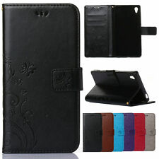 Luxury Flip PU Leather Wallet Card Stand Cover Kickstand Case For Sony Xperia