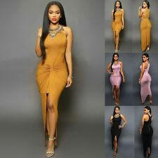 Sexy Women's Summer Bandage Bodycon Irregular Evening Party Cocktail Long Dress