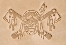 Skull Plastic Leathercraft Stamp. For Stamping Veg Tan Tooling Leather