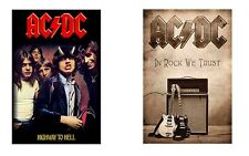 AC/DC ACDC - HIGHWAY TO HELL / IN ROCK WE TRUST - OFFICIAL TEXTILE POSTER FLAG