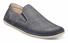 Stacy Adams Mens Newport Blue Denim Color Canvas Slip On Loafer Casual Shoes