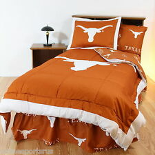 Texas Longhorns Comforter Sham and Sheet Set Twin Full Queen King Size CC