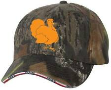 Turkey Hunter Camo American Flag Sandwich Bill Camoflauge Cap Hat