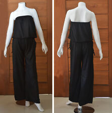 Casual Summer Strapless Wide Leg (Flare) Long Pants Jumpsuit
