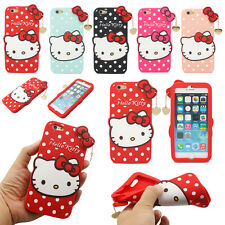 3D Cute Lovely Cartoon Cat Pendant Soft Silicone Case Cover For iPhone 6 4.7""