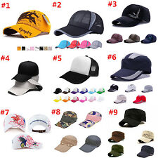 Unisex Black Baseball Cap Snapback Hat Hip-Hop Adjustable Bboy Sport Cap lot New