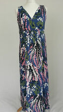 Ex Boden Ladies Lupin Maxi dress cream & blueRegular Long Jersey Floral 8-18