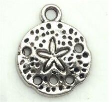 20/200 PCS Tibetan silver Craft Starfish Round Findings Charms Pendants 16*13mm