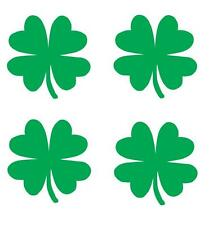 "(4) 2"" clover 4 leaf vinyl Decal sticker any size color surface car wall S007"