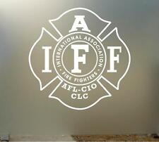 "10"" iaff vinyl Decal sticker any size color surface car LOCKER WALL FIRE S040"