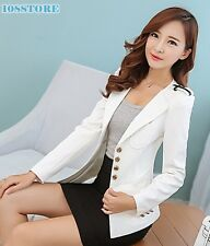 KOREAN BLAZER WOMEN LONG SLEEVE SLIM BLAZER SUIT JACKET CANDY FASHION COAT S-3XL