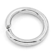 DIY Silver Tone Stainless Steel Open Jump Rings Charm Jewelry Making 4mm-10mm