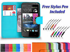 Magnetic PU Leather Book Flip Wallet ID Case Cover Holder For Various HTC Phones