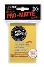 YuGiOh Sleeves 60ct Pro-Matte Yellow Small Deck Protectors Vanguard Size