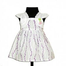 New Baby Girls Flower Cotton Dress in Lilac Pink 3-6 6-9 9-12 12-18 18-24 Months