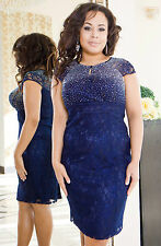 Elegant Ladies Wedding Formal Gown Party Evening Prom Dress  Size 8 - 22