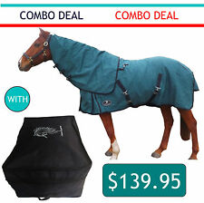 Canvas Horse Rug 20oz Wool Lined Immersion Treated  with Rug Storage Bag