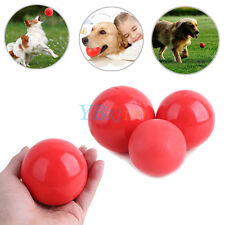 New Pets Cats Dogs Puppy Rubber Red Ball Indestructible Solid Dog Play Chew Toys