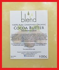 Cocoa Butter 50g, 100g or 200g - Certified Organic 100% Pure Natural Unrefined
