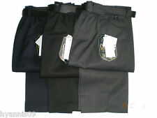 Boys Youth Slim Fit School uniform trousers half elastic waist with belt 4 -13