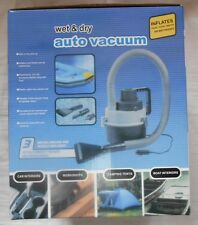 WET OR DRY CAR VACUUM CLEANER 12V + INFLATES BEDS POOL TOYS ETC RoHS CERT.  BN