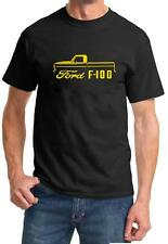 1967-72 Ford F-100 F100 Pickup Truck Classic Color Outline Design Tshirt NEW