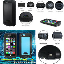 Waterproof Rechargeable Portable Charger Battery Case Cover For iPhone 6 6S Plus