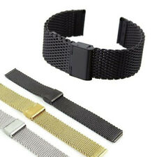 Fashion Stainless Steel Bracelet Strap Watch Mesh Replacement Band 18 20 22 24mm