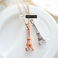 18K Gold Plate Eiffel Tower Necklace with SWAROVSKI ELEMENTS CRYSTAL N282