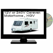 12V 16-inch HD LED TV DVD Digital Freeview USB Combi / 12v & 24v