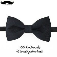 Handmake High quality bowtie print bow tie men wedding groom luxury black gift